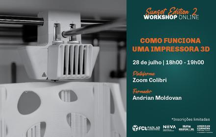 Workshop Como funciona uma impressora 3D?   Online
