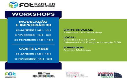 Workshops | Modelação e Impressão 3D | Corte Lazer