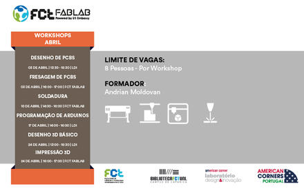 Workshops FCT Fablab Abril