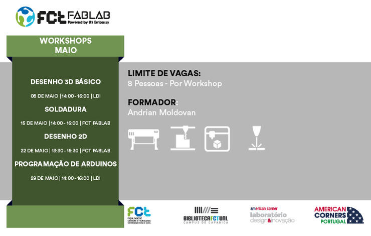 Workshops FCT Fablab Maio