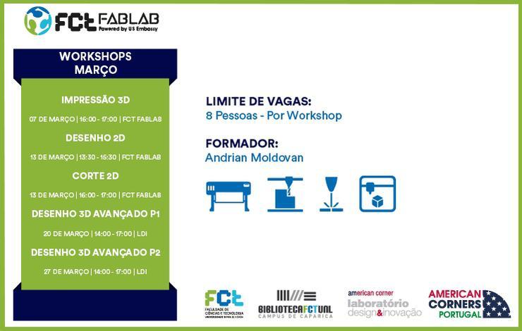 Workshops FCT Fablab Março